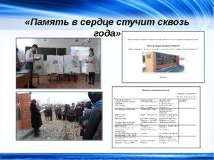«Память в сердце стучит сквозь года» http://linda6035.ucoz.ru/