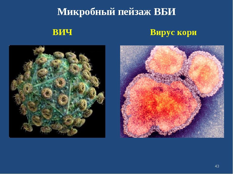 Микробный пейзаж ВБИ ВИЧ Вирус кори *