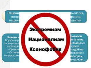 Национализм и его виды Национализм - это идеология, политика, психология, ко