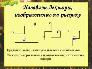 Назовите векторы, изображенные на рисунке Определите, какие из векторов являю