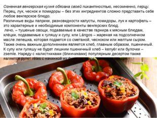 Огненная венгерская кухня обязана своей пикантностью, несомненно, перцу. Пере