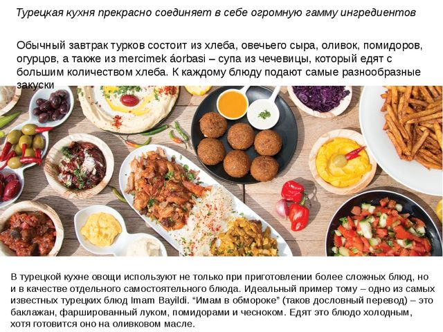 Обычный завтрак турков состоит из хлеба, овечьего сыра, оливок, помидоров, ог...
