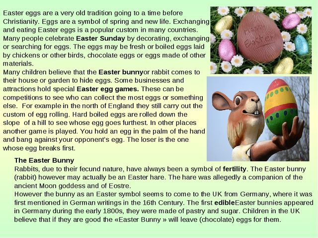Easter eggs are a very old tradition going to a time before Christianity. Egg...