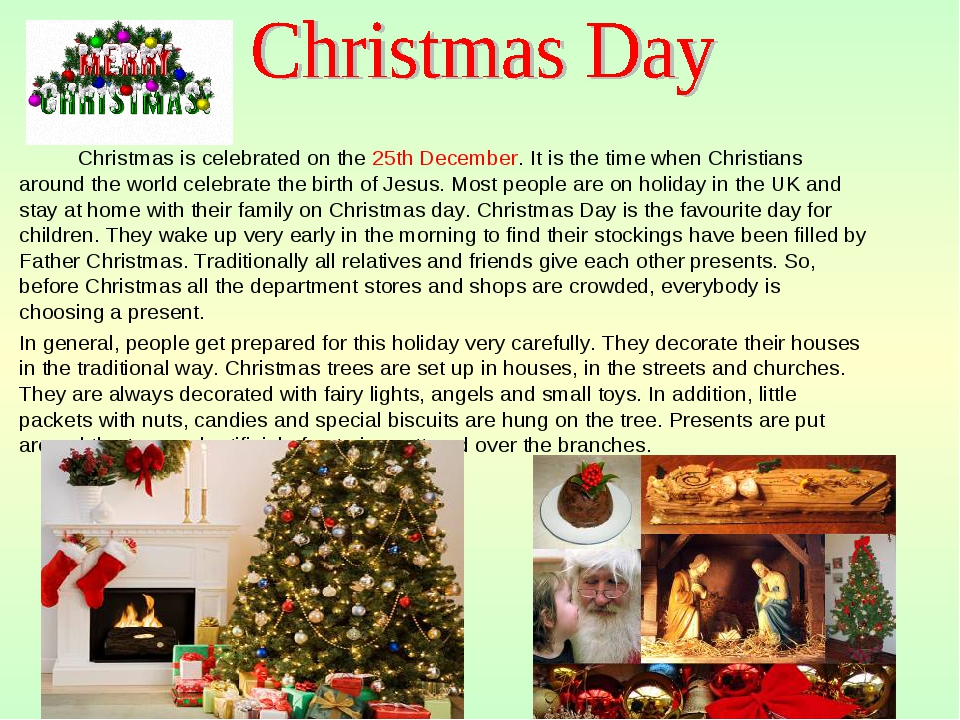 Christmas is celebrated on the 25th December. It is the time when Christians...
