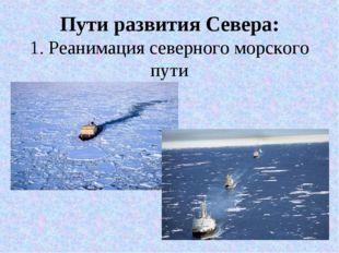 Пути развития Севера: 1. Реанимация северного морского пути