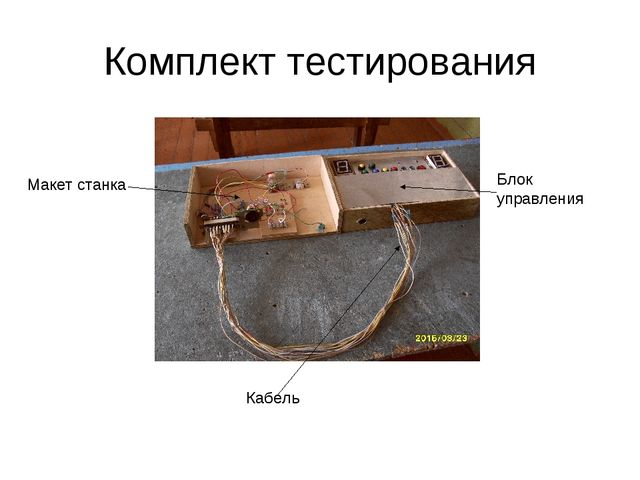 Комплект тестирования Макет станка Блок управления Кабель
