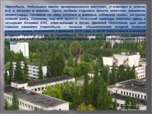 Чернобыль. Небольшое милое провинциальное местечко, утопающее в зелени, всё в