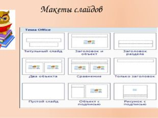 Макеты слайдов