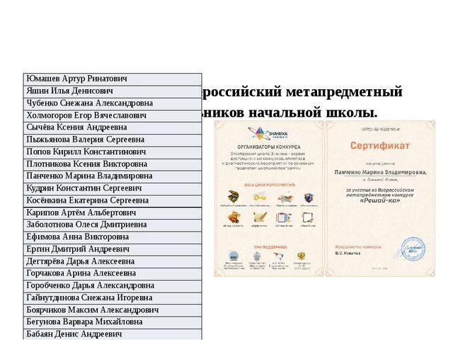 «Решай-ка» — это Всероссийский метапредметный конкурс для школьников начальн...