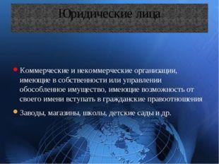 Коммерческие и некоммерческие организации, имеющие в собственности или управ
