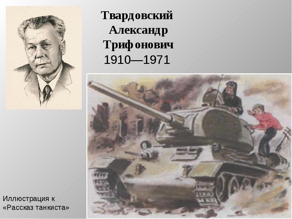 рассказ танкиста александр твардовский