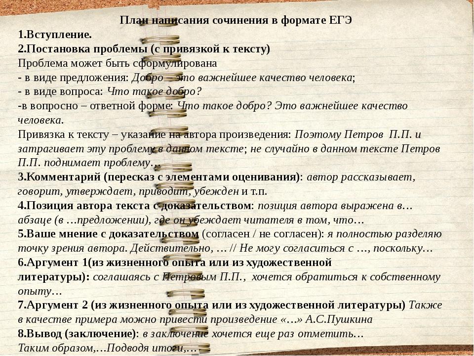 Маленькая Шпаргалка По Русскому Языку Как Писать Сочинение