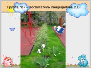 Группа №7 – воспитатель Канцедалова В.В.