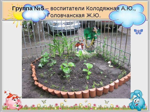 Группа №5 – воспитатели Колодяжная А.Ю., Головчанская Ж.Ю.