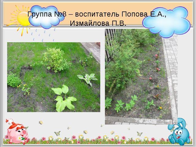 Группа №8 – воспитатель Попова Е.А., Измайлова П.В.