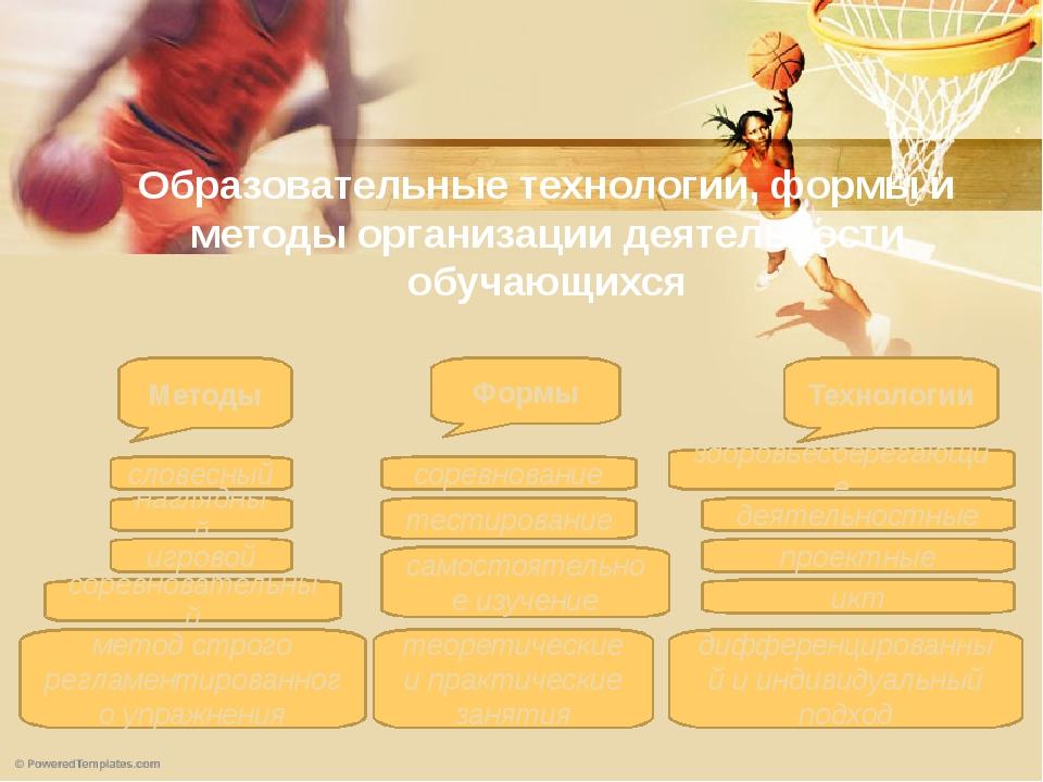 Образовательные технологии, формы и методы организации деятельности обучающих...