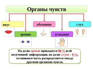 Органы чувств вкус зрение обоняние осязание слух С помощью какого органа чувс