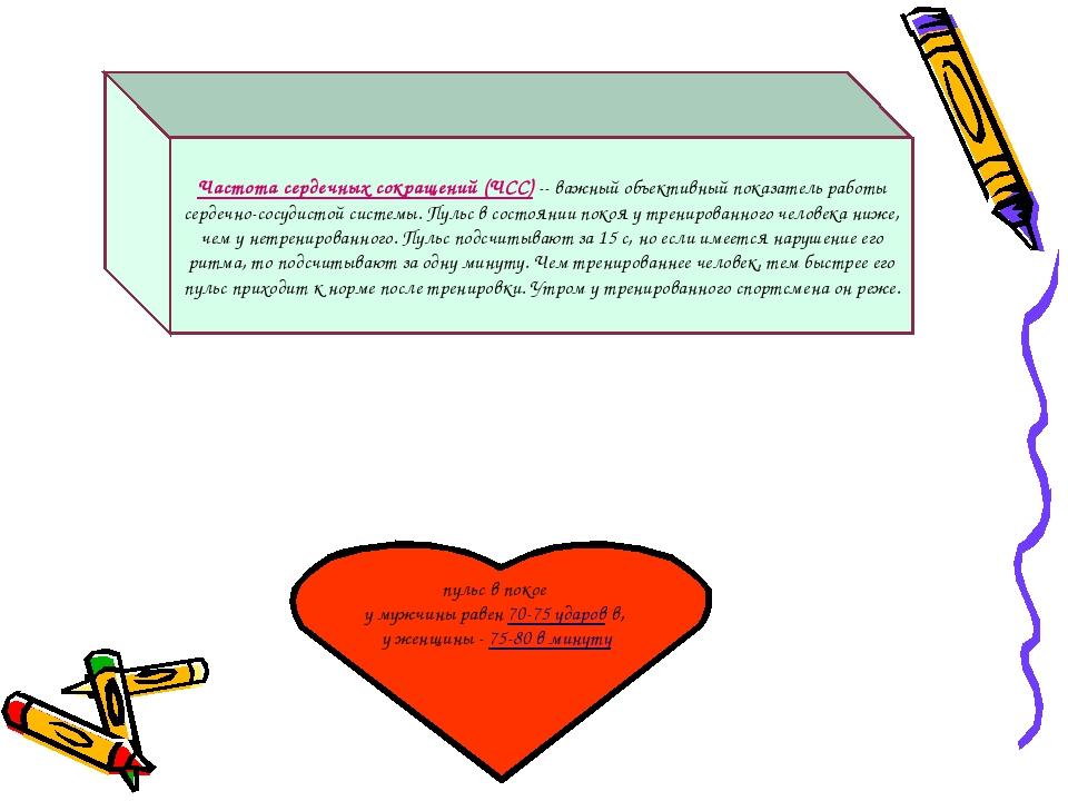 Частота сердечных сокращений (ЧСС) -- важный объективный показатель работы се...