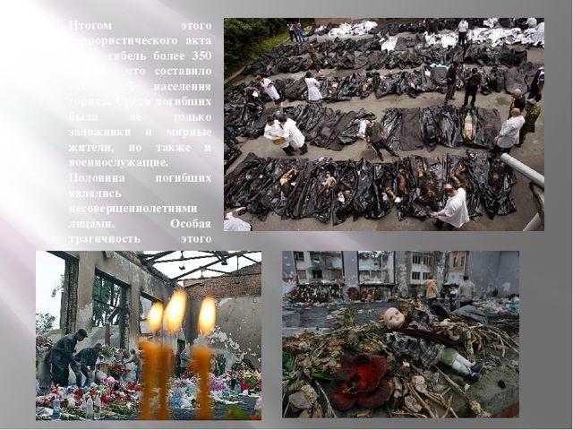 Итогом этого террористического акта стала гибель более 350 человек, что соста...