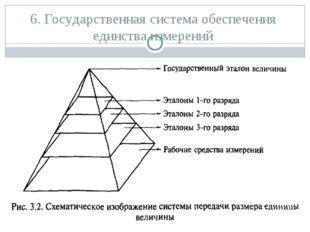 6. Государственная система обеспечения единства измерений