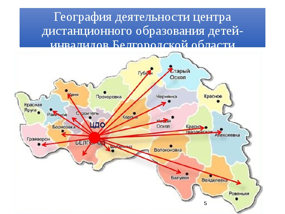 География деятельности центра дистанционного образования детей-инвалидов Белг...