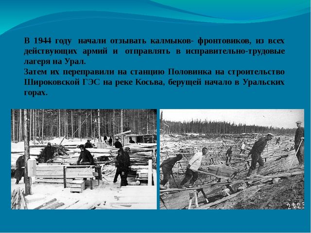 В 1944 году начали отзывать калмыков- фронтовиков, из всех действующих армий...