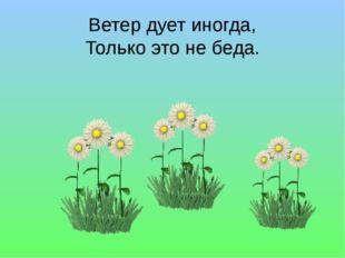 Ветер дует иногда, Только это не беда.