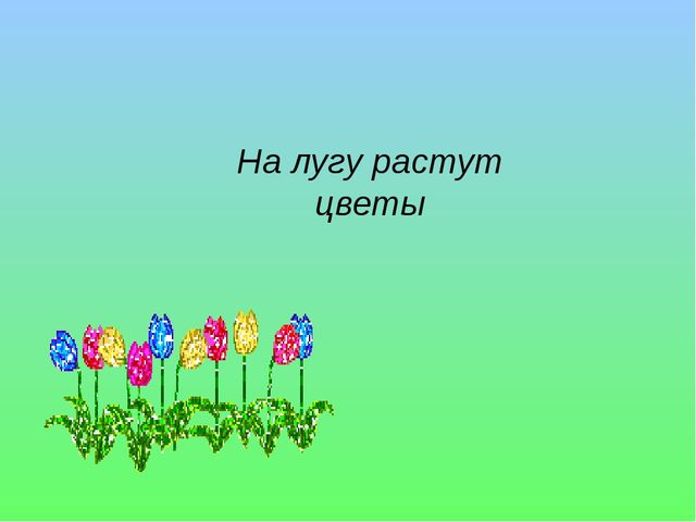 На лугу растут цветы