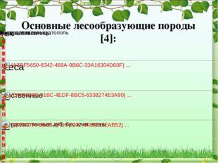 Основные лесообразующие породы [4]: