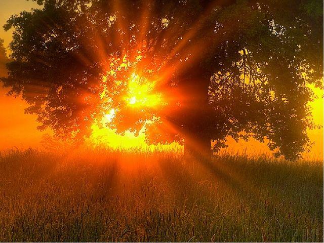 Один костёр весь мир согревает, он по небу катается, людям улыбается.