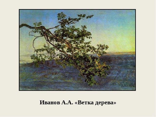 Иванов А.А. «Ветка дерева»