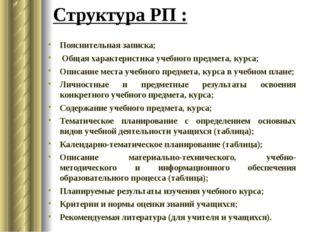 Пояснительная записка; Общая характеристика учебного предмета, курса; Описани