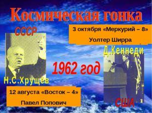 20 февраля «Меркурий – 6» Джон Гленн 24 мая «Меркурий -7» Малькольм Карпентер