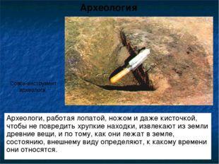 Археологи, работая лопатой, ножом и даже кисточкой, чтобы не повредить хрупки