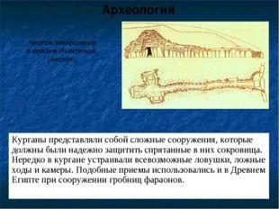 Курганы представляли собой сложные сооружения, которые должны были надежно за