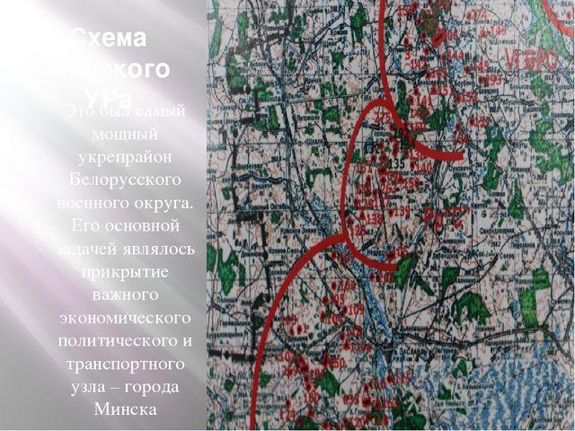 Схема Минского УРа Это был самый мощный укрепрайон Белорусского военного окру...