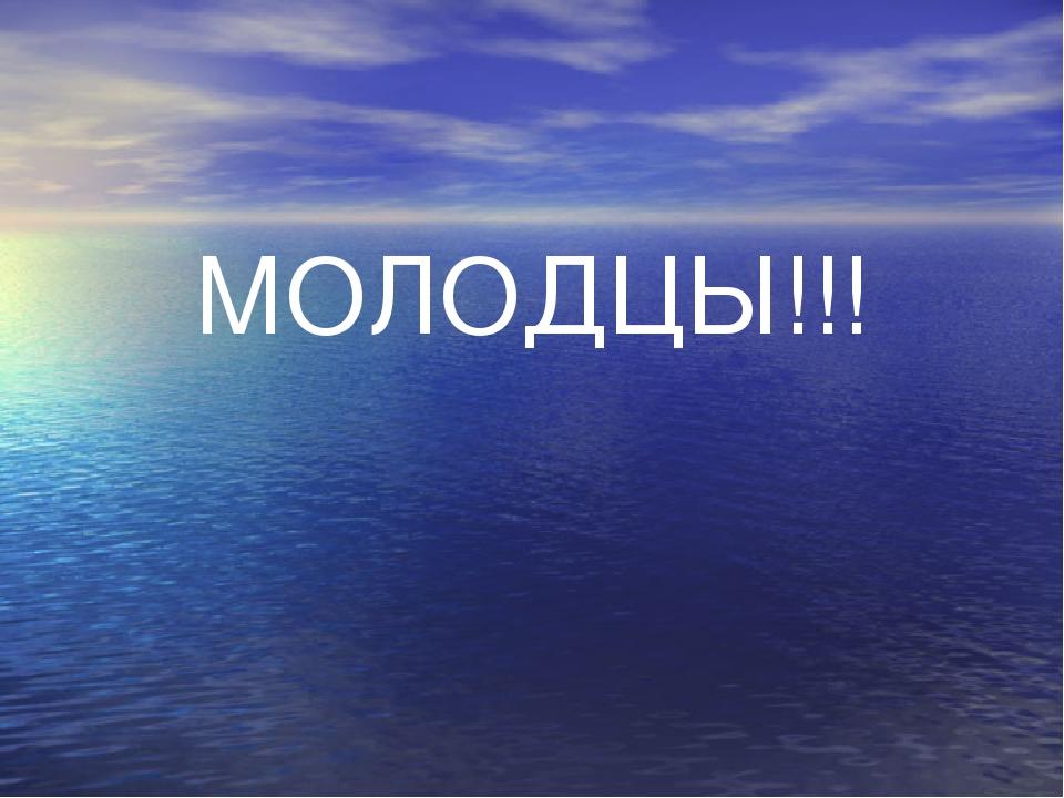 МОЛОДЦЫ!!! МОЛОДЦЫ!!!