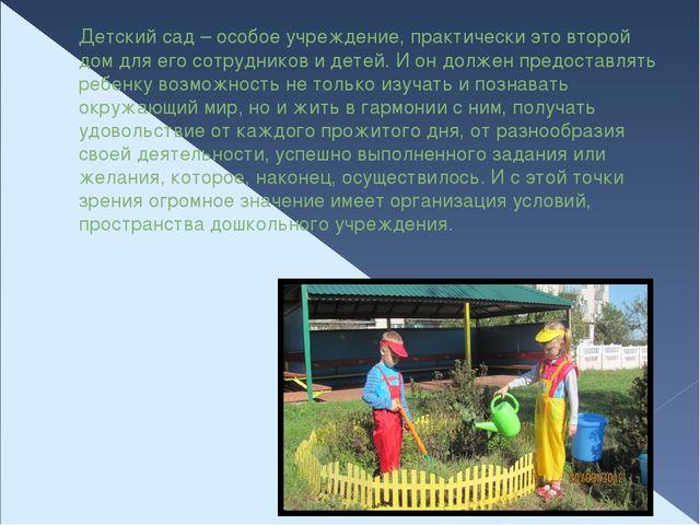 Детский сад – особое учреждение, практически это второй дом для его сотрудник...