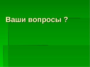 Ваши вопросы ?