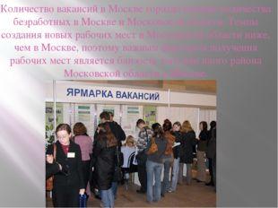 Количество вакансий в Москве гораздо меньше количества безработных в Москве и