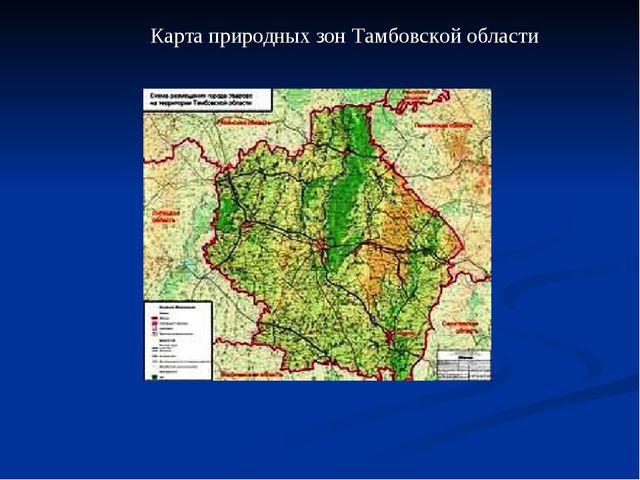 Карта природных зон Тамбовской области