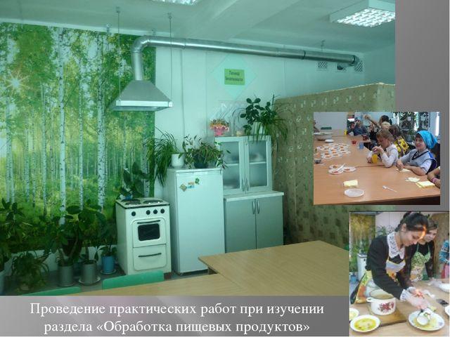 Проведение практических работ при изучении раздела «Обработка пищевых продукт...