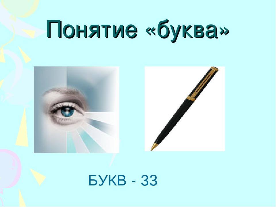 Понятие «буква» БУКВ - 33