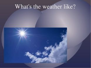 What's the weather like? {