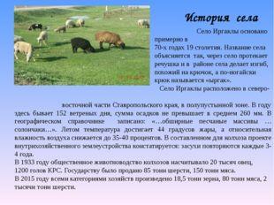 История села Село Иргаклы основано примерно в 70-х годах 19 столетия. Названи