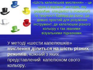«Шість капелюшків мислення» – це одна із відомих методик, яку розробив спеціа