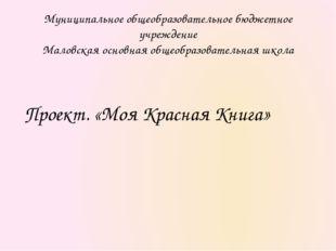 Муниципальное общеобразовательное бюджетное учреждение Маловская основная общ