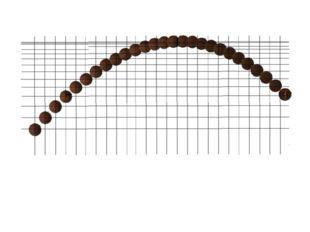 Проведем через центр каждого мяча горизонтальные и вертикальные линии. Увиди