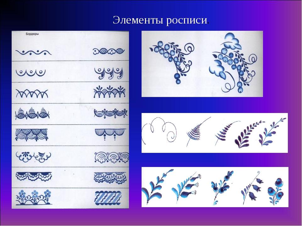 Видео урок по росписи гжелью