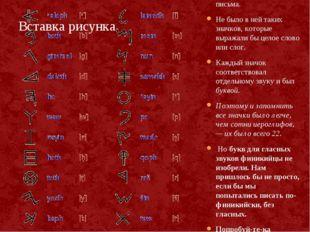 В Финикии придумали очень простую систему письма. Не было в ней таких значков